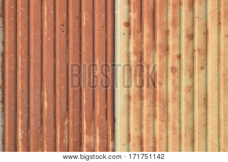 pattern of old rusty ridge galvanized plate