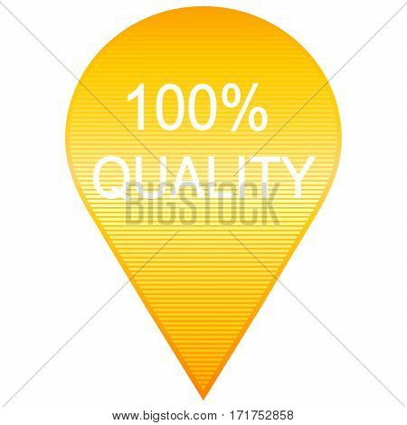 modern yellow 100 quality sign. Vector image