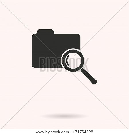 Folder vector icon. Black illustration isolated on white background for graphic and web design.