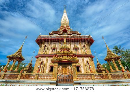 The most important of buddhist temples of Phuket is Wat Chalong or formally Wat Chaiyathararam in Phuket Thailand.