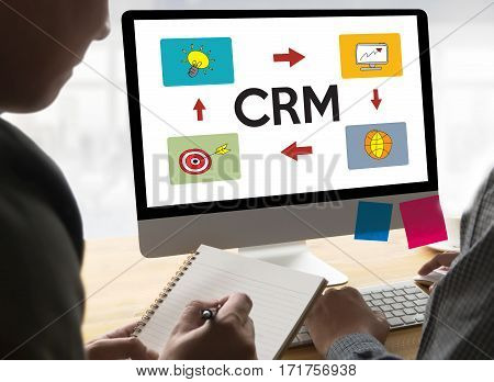 Crm Business Customer Crm Management Analysis Service Concept , Customer Relationship Management