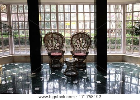 KOLKATA, INDIA - FEBRUARY 09:  Oberoi Grand Hotel formerly known as the The Grand Hotel, is situated in the heart of Kolkata on Jawaharlal Nehru Road, on February 09, 2016 in Kolkata, India.