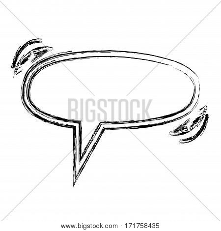 blurred silhouette ellipse shape dialog box vector illustration