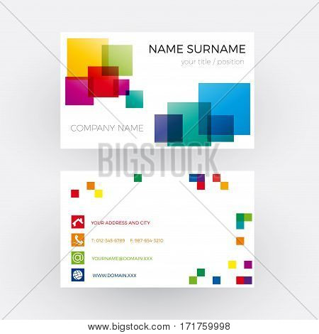 Vector Abstract concept of network. Business card