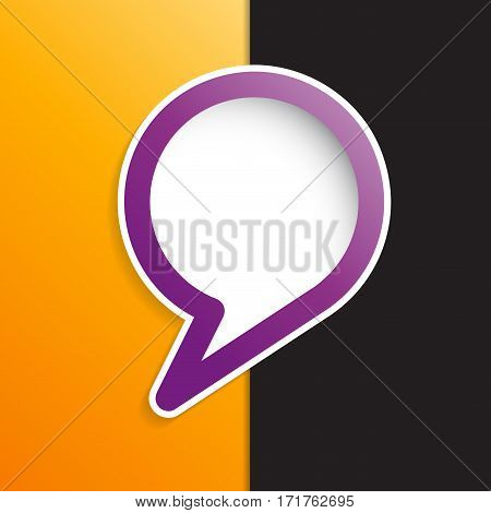 Vector cover speech in purple and white