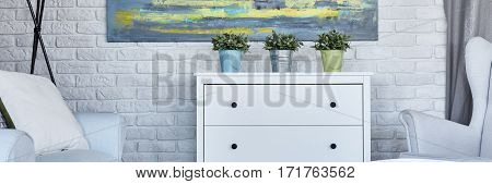 Commode With Plants