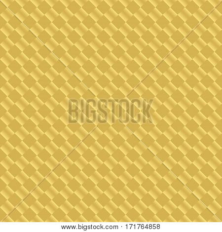 Luxury golden seamless pattern design. Gold square luxurious print for wrapping paper apparel clothing gift boxes etc. Vector repeatitive geometric background.