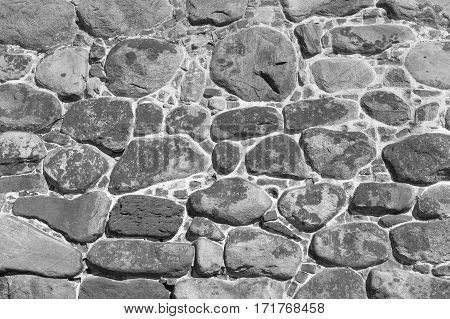Stone wall texture ancient citadel. Architecture exterior background