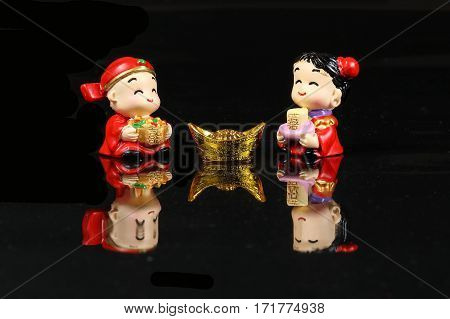 Chinese CNY decoration charm wishes feng shui