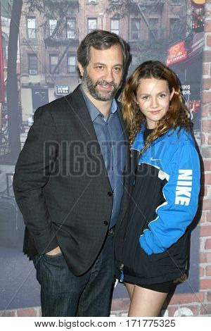LOS ANGELES - FEB 15:  Judd Apatow, Iris Apatow at the