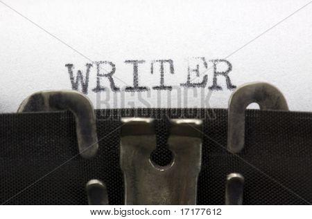 Schreibmaschine Closeup erschossen, Konzept des Schriftstellers
