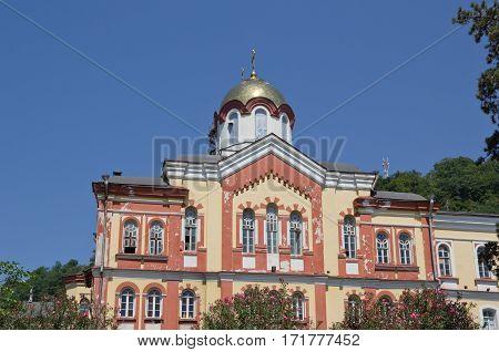 New Athos the Simon the Zealot monastery - monastery located at the foot of mount Athos in Abkhazia.