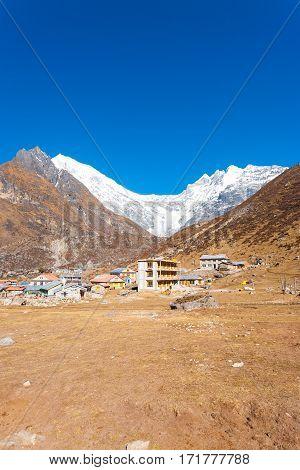 Langtang Kyanjin Gompa Village Lirung View V