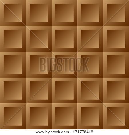 Abstract background brown tiles. Seamless pattern vector illustration