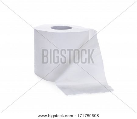 toilet papertissue paper roll isolated on white background