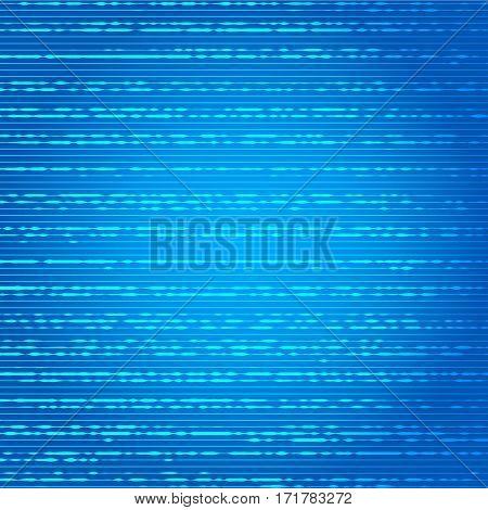 Vector illustration of Big data visualization on blue background.