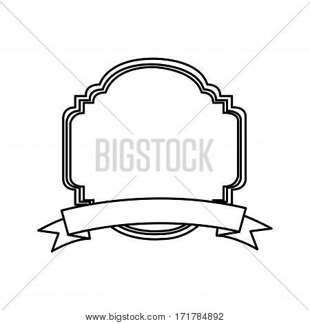 silhouette decorative heraldic frame design vector illustration vector illustration