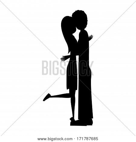 people in love couple icon, vector illustration image