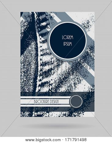 Denim brochure design. Business modern layout. Casual style cover template. Vector illustration.