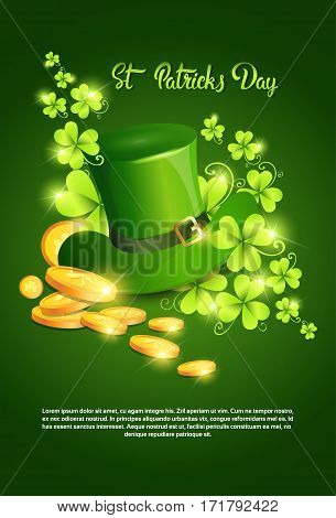 Happy Patrick Day Festival Beer Holiday Poster Fest Flat Vector Illustration poster