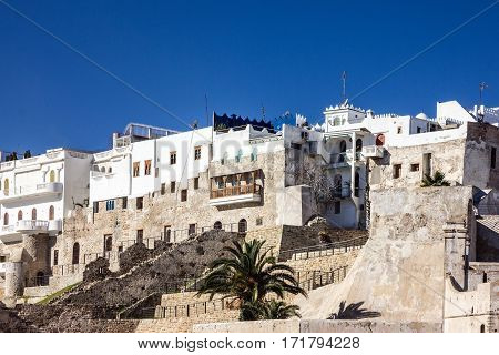 Ancient fortress in old town Tanger, Morocco, Medina