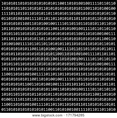 Binary Code Zero One Matrix Black Background Beautiful Banner Wallpaper