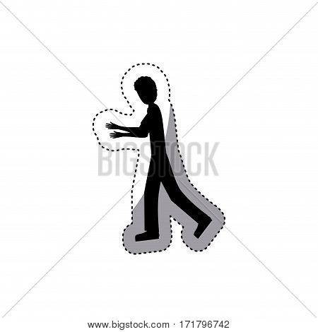 people man icon image, vector illustration stock design