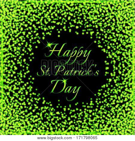 Happy Saint Patrick's Day background. Postcard card flyer banner template