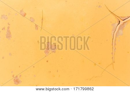 Dirty yellow metal crack surface texture background