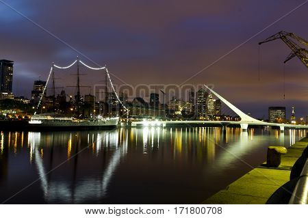 Buenos Aires, Argentina. Puerto Madero By Night