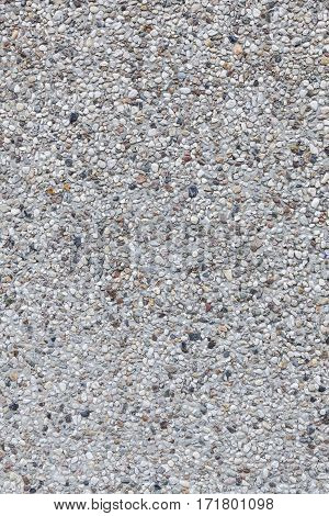 background of vertical part of concrete tile with gravel top
