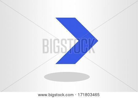 Illustration of straight arrow against plain background
