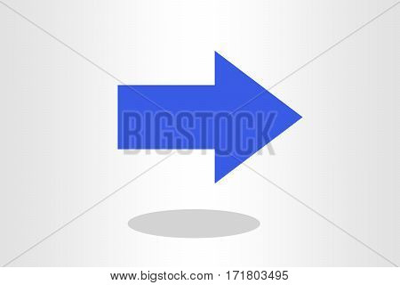 Illustration of straight arrow against plain background