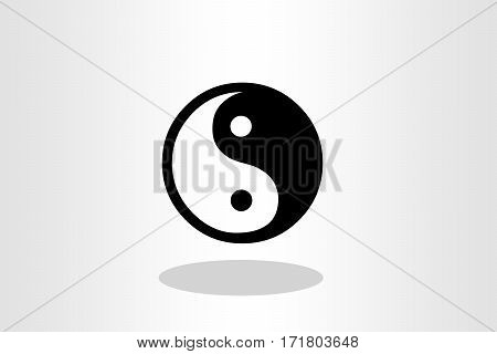 Illustration of yin yang against plain background