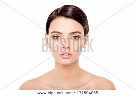 Portrait Of Beautiful Young Woman With Clean Healthy Skin