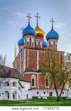 Assumption Cathedral of the Ryazan Kremlin was built in 1693-1699 years by the architect Yakov Bukhvostau Ryazan Russia