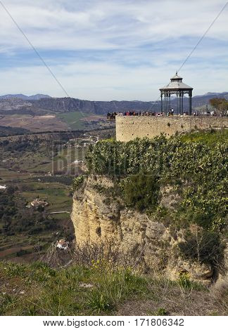 The most impressive view of the valley is from the platform and the rotunda with an amusing name Balcon del Cono at Ronda