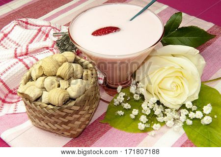 Yogurt And Small Sweets Ecuadorians