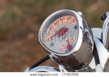 Motorcycle motorbike mile speed led monitor light