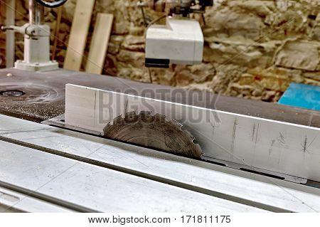 professional steel circular saw blade, side view