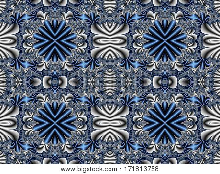 Fabulous seamless blue background. Magical Satin.