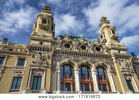 Monte Carlo hotel building architecture, Monaco principality