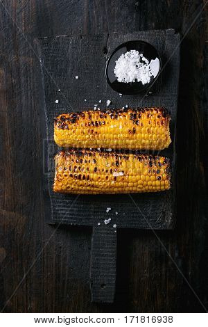 Grilled Corn Cobs With Sea Salt