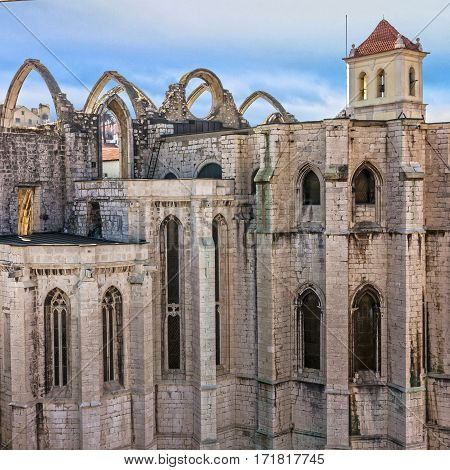 The Carmo Convent (Convento da Ordem do Carmo) - historical building, Lisbon, Portugal.
