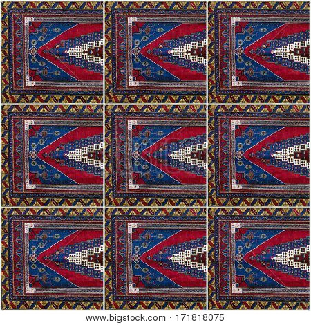 Carpet border oriental frame pattern. Background design
