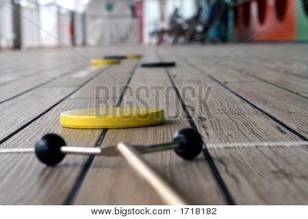 Shuffleboard Playing On A Cruise Ship 1