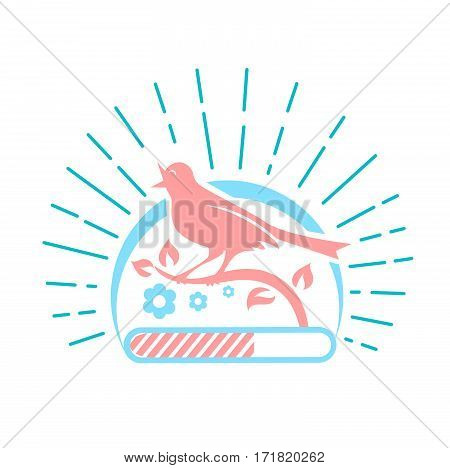 Illustration Downloads  Singing Bird Two Colors