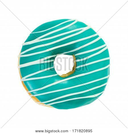Donut Turquoise Color With White Stripes