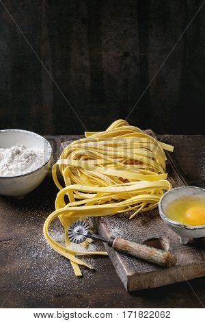 Raw Homemade Pasta Tagliatelle