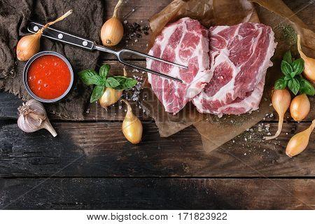 Raw Meat Pork Steak